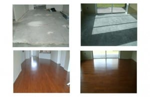 Tricolor Floor installation includes a sub-floor preparation